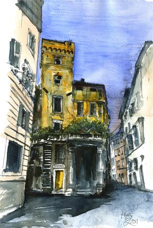 Street view Rome